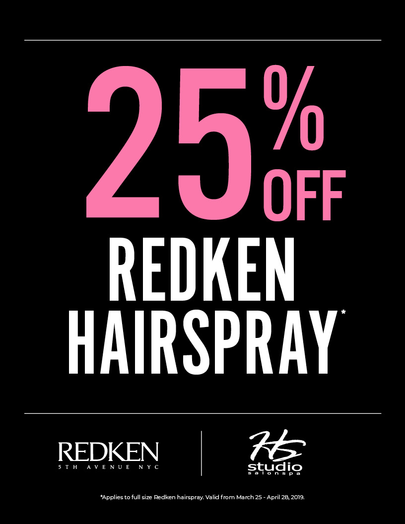 25% Off Hairspray, HSS, HS Studio