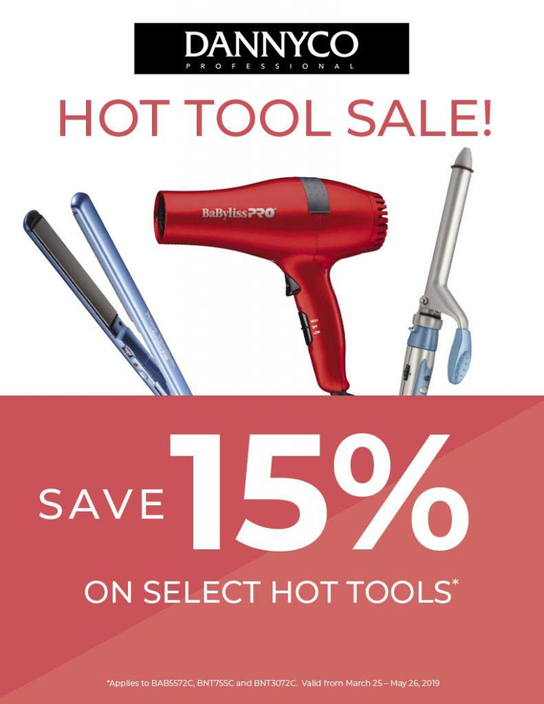 15% off Dannyco Hot Tools, HSS, HS Studio