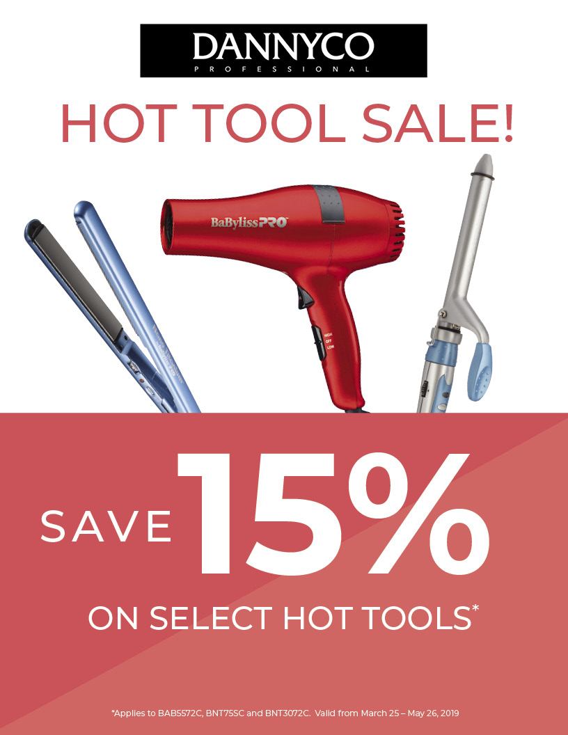 15% off Dannyco Hot Tools, HSS, HS Studio