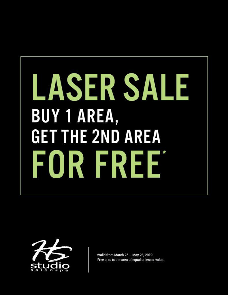 BOGO Laser Sale, HSS, HS Studio